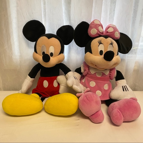 Disney Mickey Mouse and Minnie Mouse Large Plush